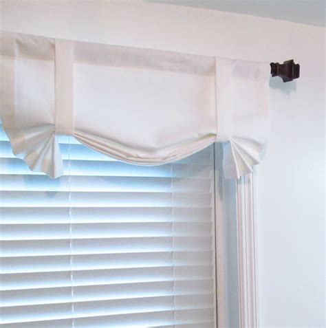 Tie Up Window Curtains Solid White Tie Up Window Valance Custom Sizing Available