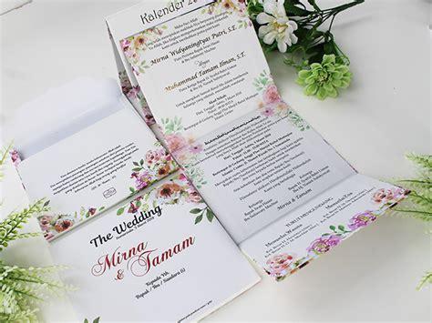 Undangan Pernikahan Wedding Invitation Lipat Tiga undangan hardcover kalender lipat tiga undangan pernikahan