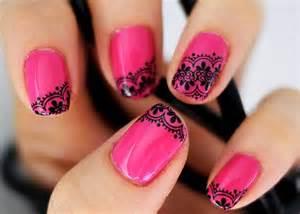 pink nail art designs acrylic nail designs