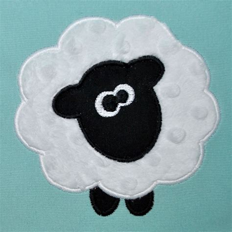 free applique embroidery machine sheep applique design farm animal