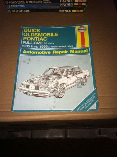 service manuals schematics 1993 oldsmobile 98 head up display sell buick olds pontiac full size 1985 1993 haynes service repair manual 1627 b motorcycle in