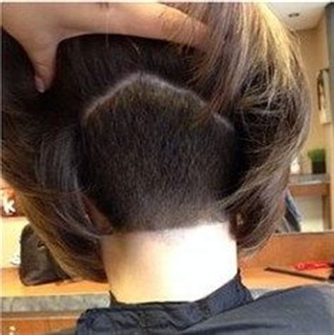 shaved swing bob inverted bob with shaved nape short hairstyle 2013