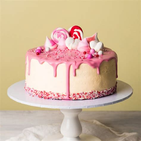 Images Of Birthday Decoration At Home vanilla thriller pink drip cake