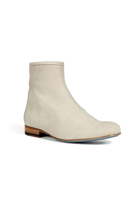marc mens boots marc chalk suede chelsea boots in white for