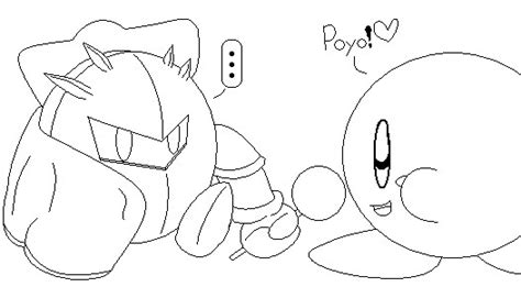 kirby coloring pages meta knight meta knight and kirby by metaknightxkirby on deviantart