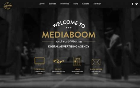 Award Winning Digital Advertising Agency Mediaboom Webdesign Inspiration Www Niceoneilike Com Award Winning Website Templates