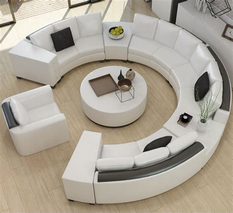 round leather sofa set the right choices of comfortable round sofa furniture for