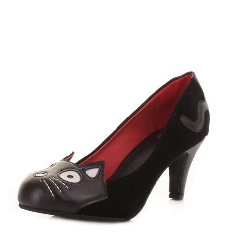 tuk shoes womens tuk character antipop heel black velvet court