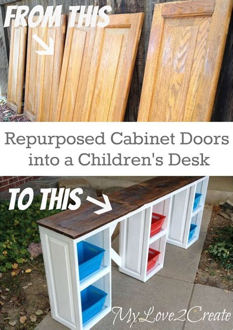 scrapbooking cabinets and workstations repurposed cabinet doors into a desk repurposed scrap