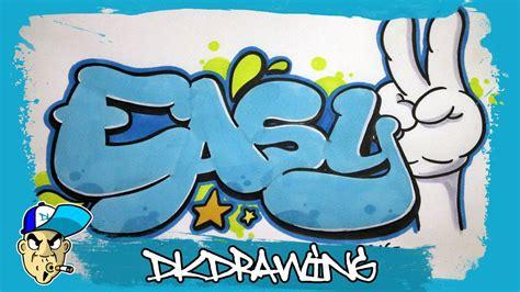 graffiti tutorial   draw easy graffiti bubble style