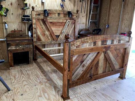 easy diy pallet bed frame diy pallet bed frame with lighted headboard and