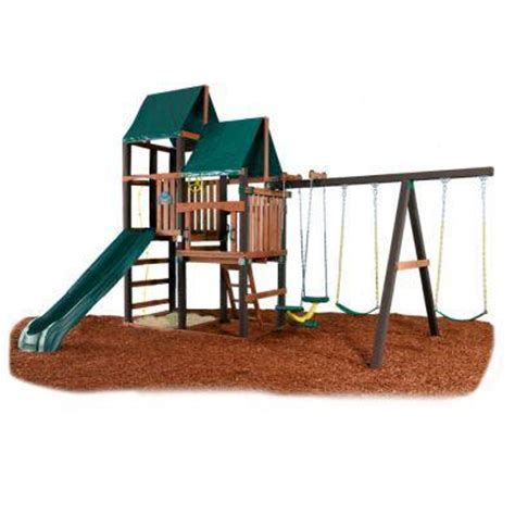 swing n slide disney palisade wooden playground kit home