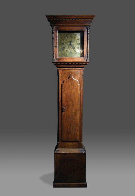 oak longcase clock antique welsh  hour longcase clock