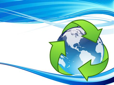ppt templates free download recycling crystal earth recycle backgrounds technology ppt