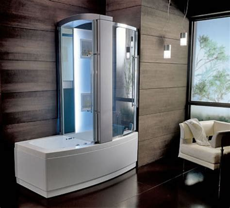 bath shower units combined new teuco hydrosonic hydroshower sharade a bathtub and shower combination unit