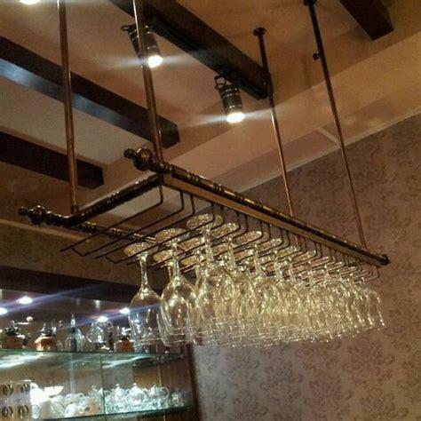 Metal Hanging Wine Glass Rack wrought iron wine rack wine glass rack wall hanging cup holder wine rack white matt black
