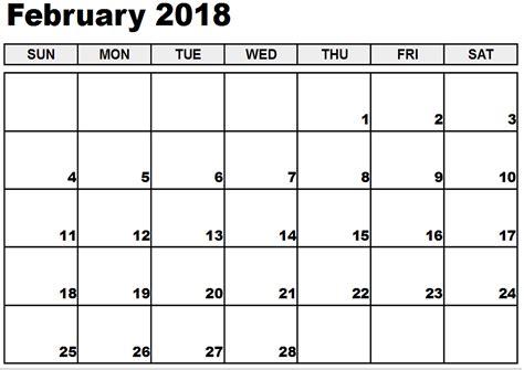 Calendar 2018 February Festival Printable February 2018 Calendar Free 2017 Calendar