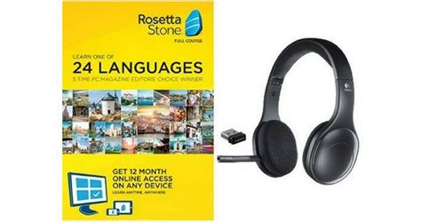 rosetta stone yearly subscription rosetta stone subscription wireless headset for 148 99