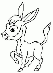 donkey coloring pages preschool donkey coloring pages for kids preschool and kindergarten