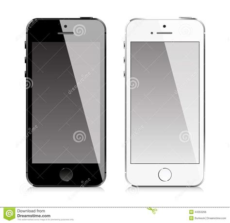 mobile phone similar  iphone style stock vector image