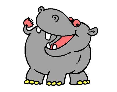 imagenes infantiles hipopotamo dibujo de hipop 243 tamo pintado por en dibujos net el d 237 a 01