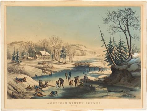 american winter scenes morning nathaniel currier