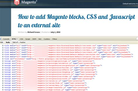 magento layout xml add external js how to add magento blocks css and javascript to an