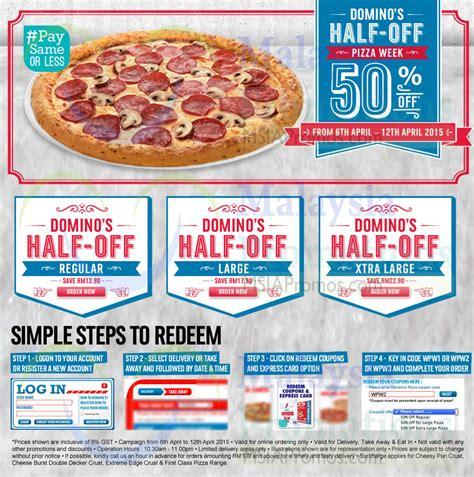 domino pizza voucher code dominos pizza 6 apr 2015 187 domino s pizza 50 off pizzas
