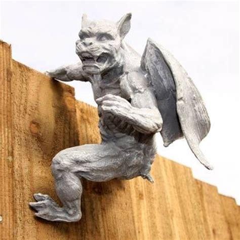 Gargoyle L Post gargoyle zaunh 228 nger torw 228 chter garten figur deko ga41l ebay