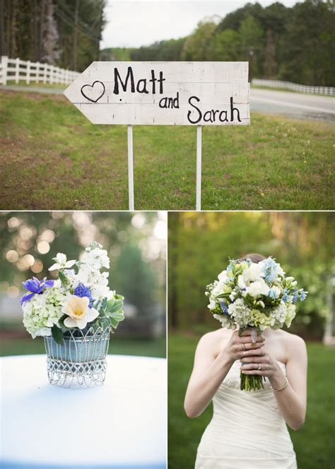 outdoor spring wedding with country chic onewed