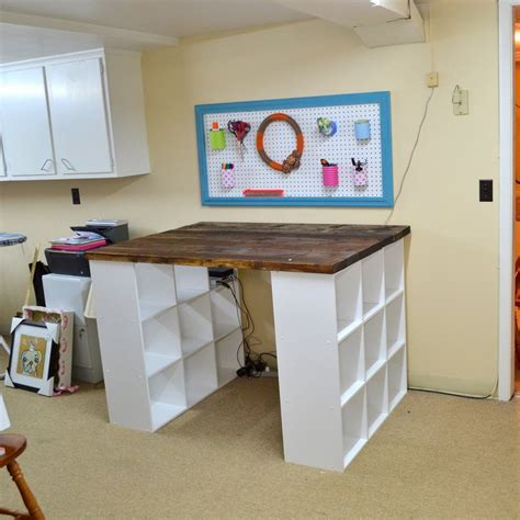 diy craft room table diy bookshelf craft table the owner builder network