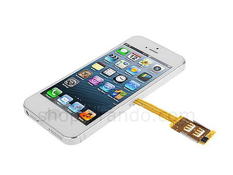 dual sim card for iphone 5 5s with back