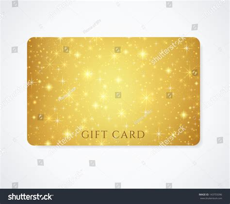 Golden Business Card Template by Gold Yellow Golden Gift Business Card Stock Vector
