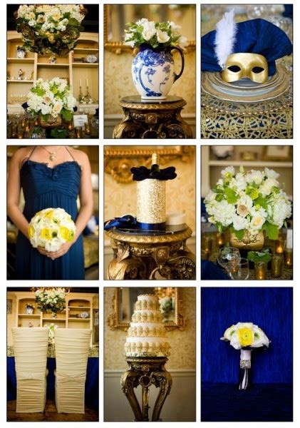 wedding theme luxury blue gold enchanting events