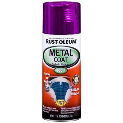 rust oleum automotive 11 oz metal coat purple spray paint 251585 the home depot