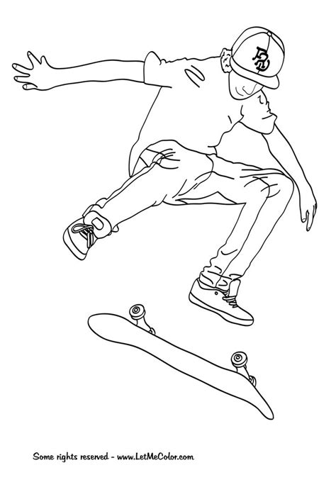 Skateboard Coloring Pages cool skateboarding free colouring pages coloring free printables and