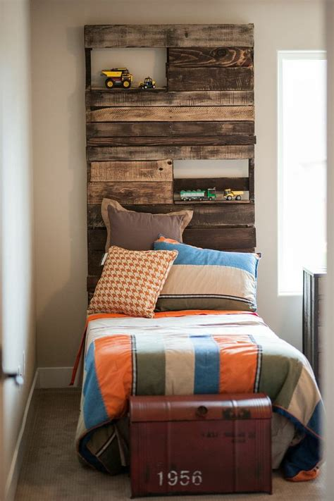 diy headboard with shelves pallet headboards with shelves diy crafts pinterest
