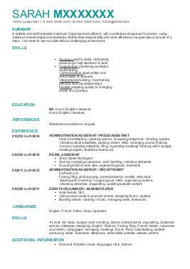 m fashion resume