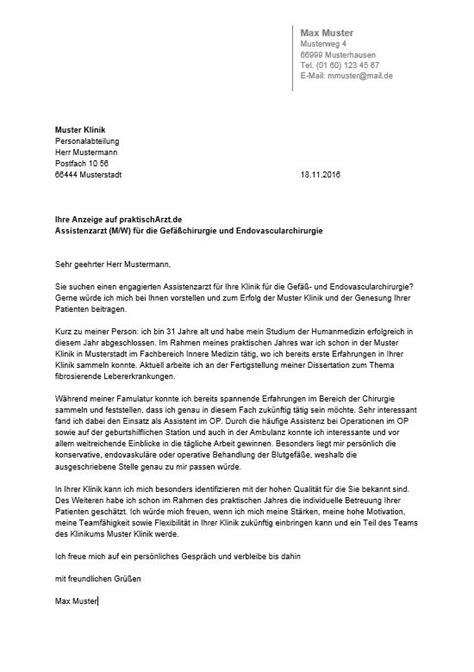 Initiativbewerbung Anschreiben Arzt initiativbewerbung assistenzarzt muster anschreiben 2018