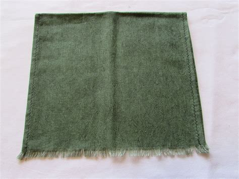 Handmade Tea Towels - vintage handmade tea towels green cotton