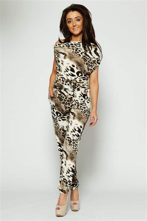 Jumpsuit Animal Print leopard animal print jumpsuit from dollywood boutique uk