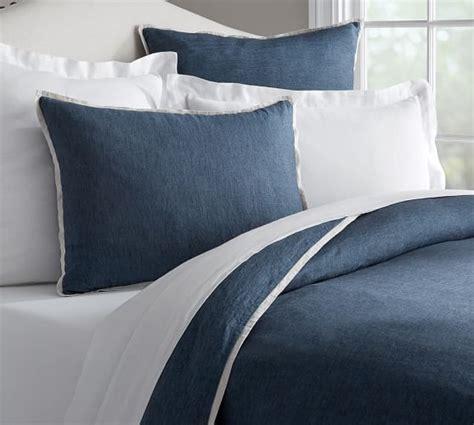 belgian linen bedding sets belgian flax linen contrast flange duvet cover sham