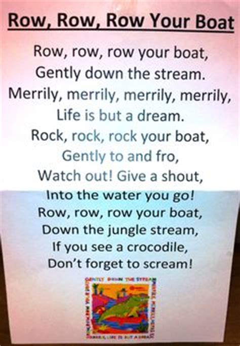 row the boat speech itty bitty rhyme baby shark use thumb and pointer