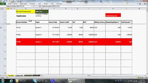 Simple Excel Bookkeeping Template Youtube Bookkeeping Excel Template