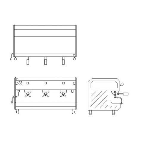 cabinet makers ta bay free 2d cad block of a coffee machine cadblocksfree cad