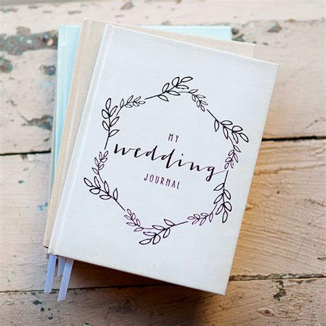 junior bridesmaid writing journal books wedding journal notebook wedding planner personalized