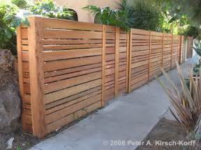 Horizontal Wood Fence Design Fence Ideas Horizontal And Vertical Slats Neighborhood Nursery