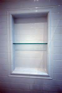 Bathroom Niche Shelves Shower Shelves Subway Tile Shower Niche With Glass Shelf What A Great Way To