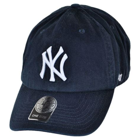 baseball cap logos of brands 47 brand new york yankees mlb home clean up strapback