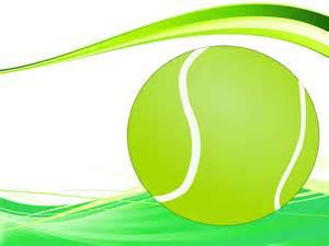 tennis ball powerpoint slide ppt backgrounds green